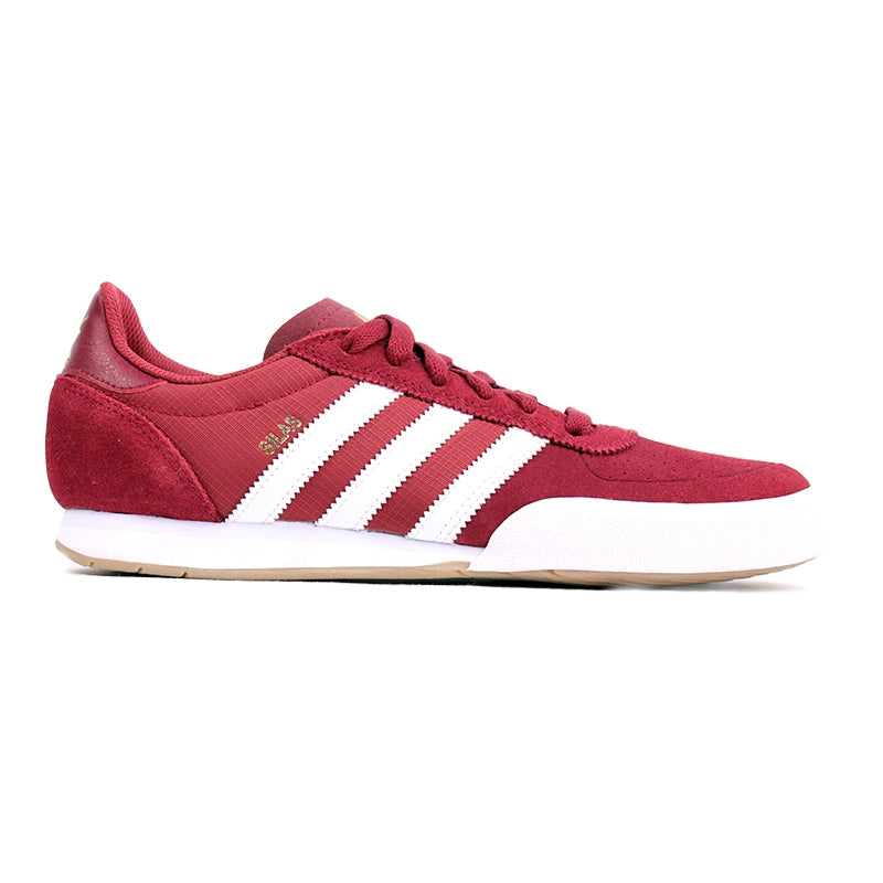 Adidas Skateboarding Silas SLR Shoes in St Nomad Red/Running White/Metalic Gold