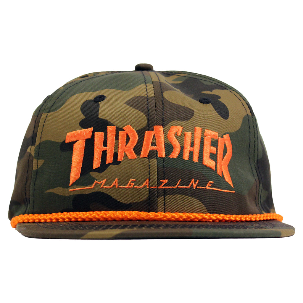 Thrasher Rope Cap in Camo - Front