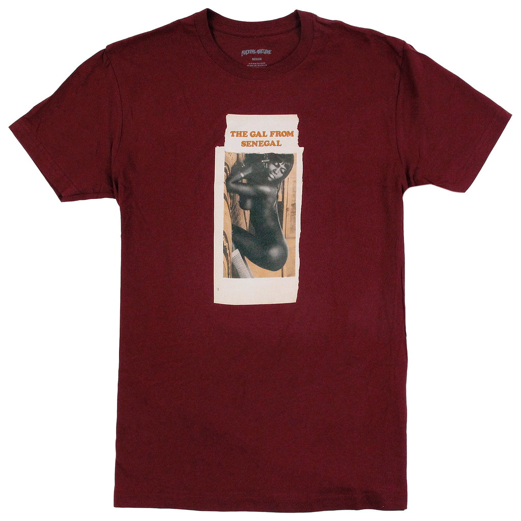 Fucking Awesome Senegal T Shirt in Maroon