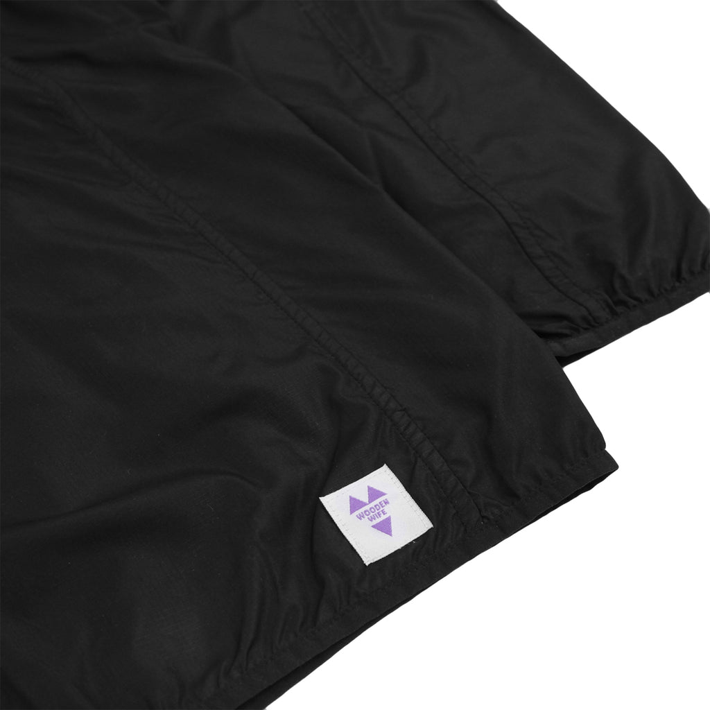 Wooden Wife Skateboards Logo Windbreaker in Black - Label