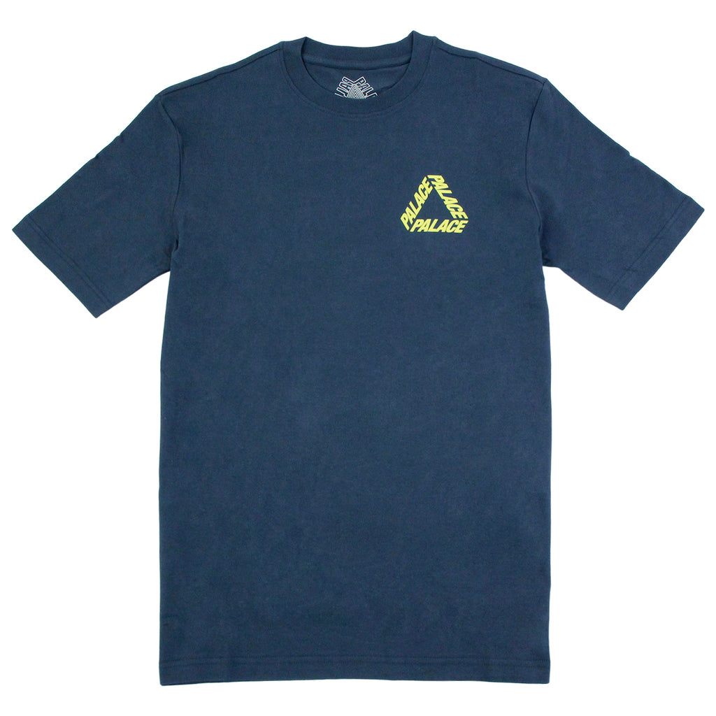 Palace P 3 T Shirt in Navy / Yellow