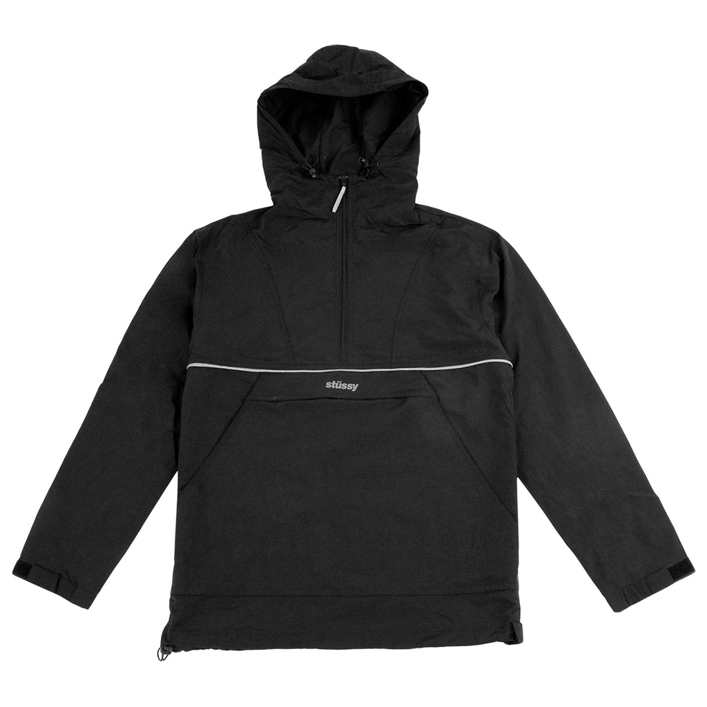 Stussy Reflective Sports Pullover Jacket in Black