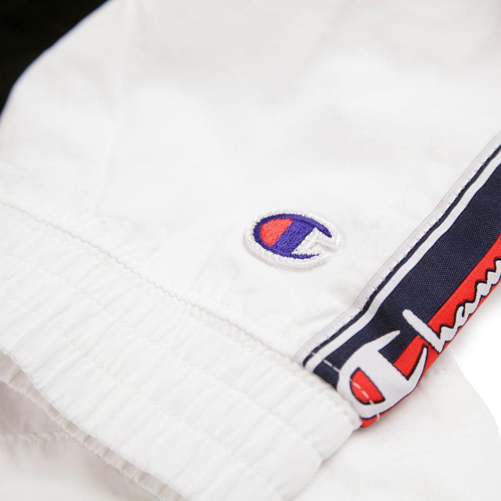 Champion Reverse Weave Taped Track Jacket in White / Red / Black - Patch