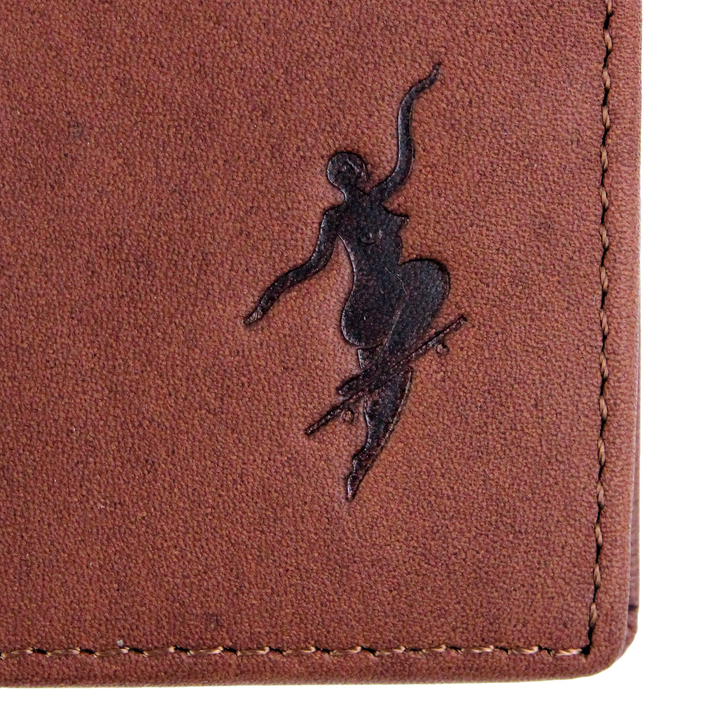 Polar Skate Co No Comply Wallet in Brown - Emboss