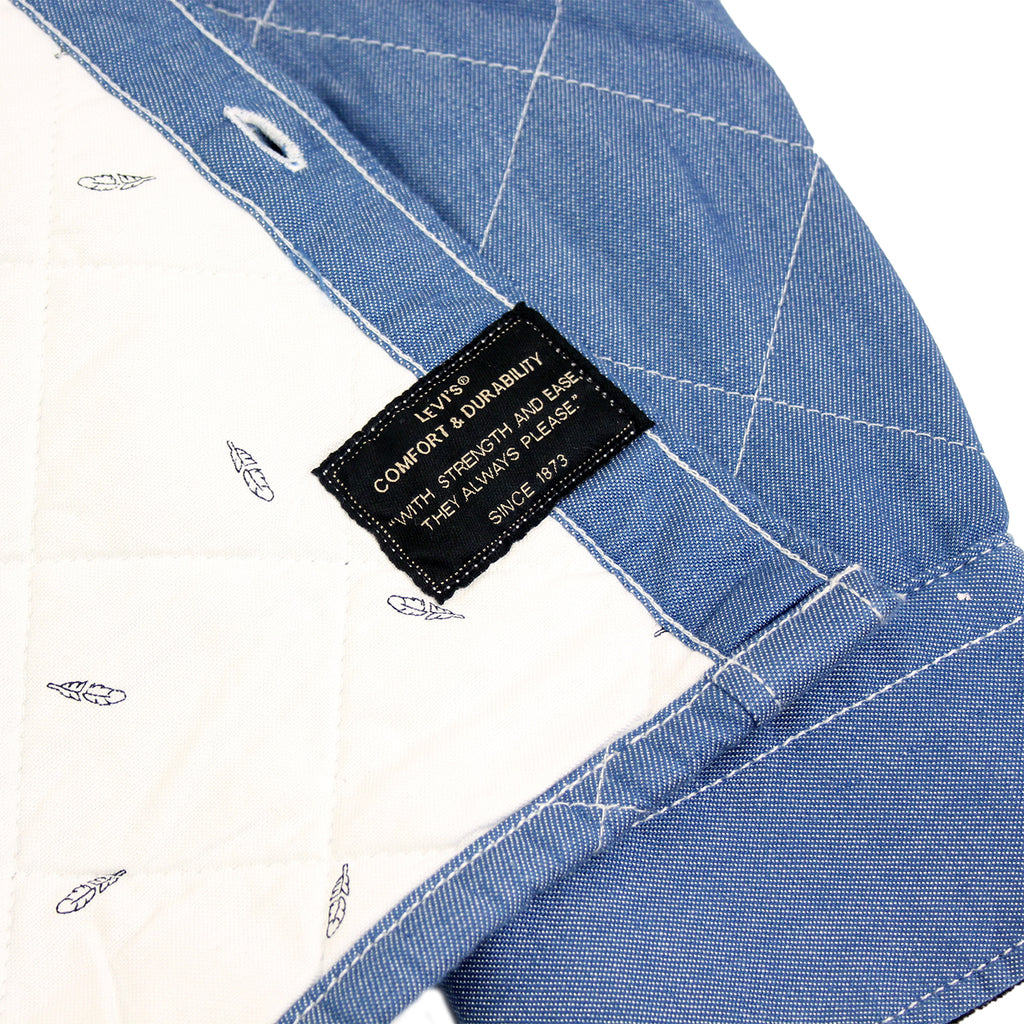 Levi's Skateboarding Collection Quilted Mason 2 Shirt in Chambray - Label