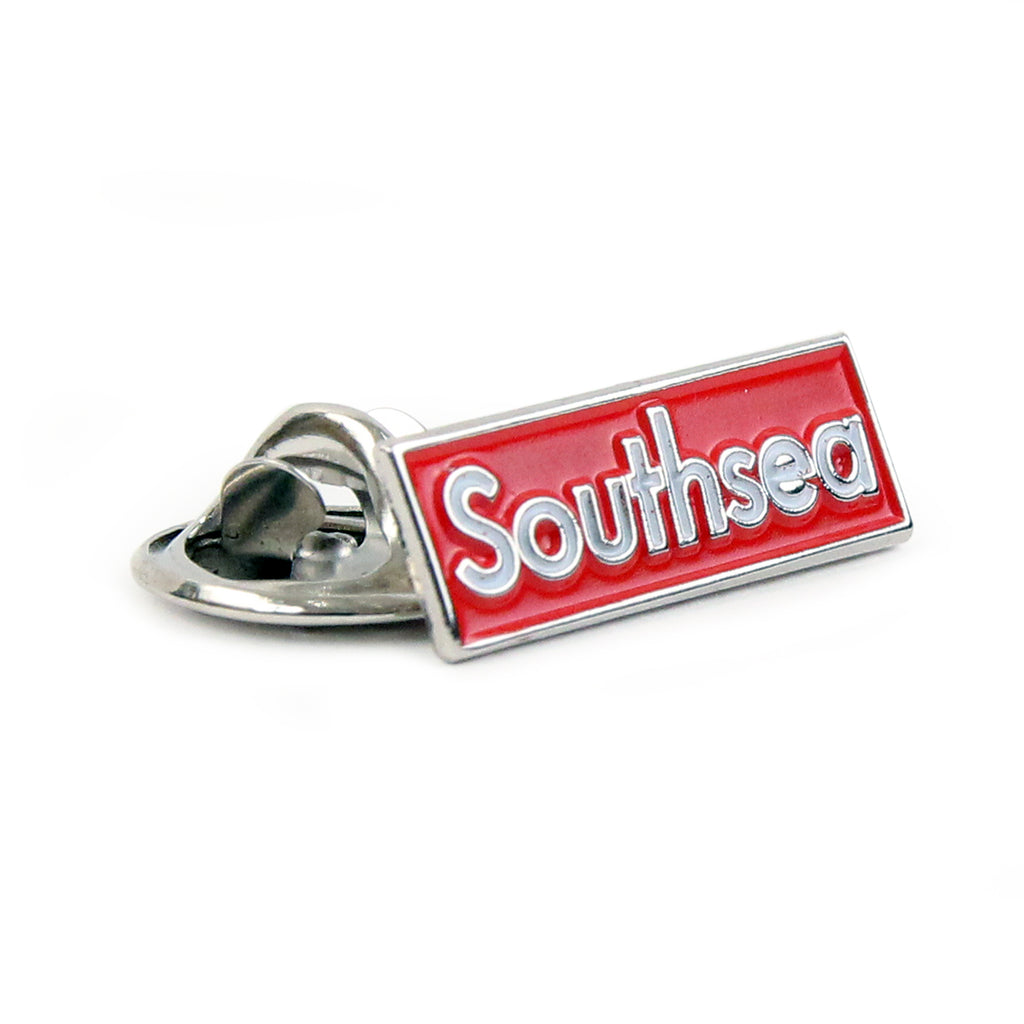 Bored of Southsea Southsea Box Logo Pin Badge