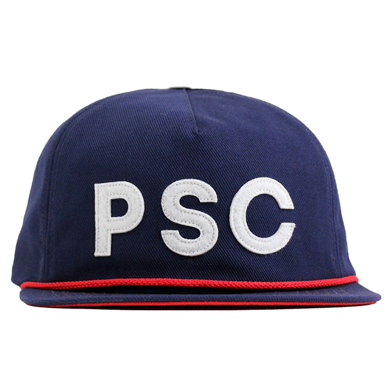 Polar Skate Co PSC Soft Snapback in Navy / Red - Front