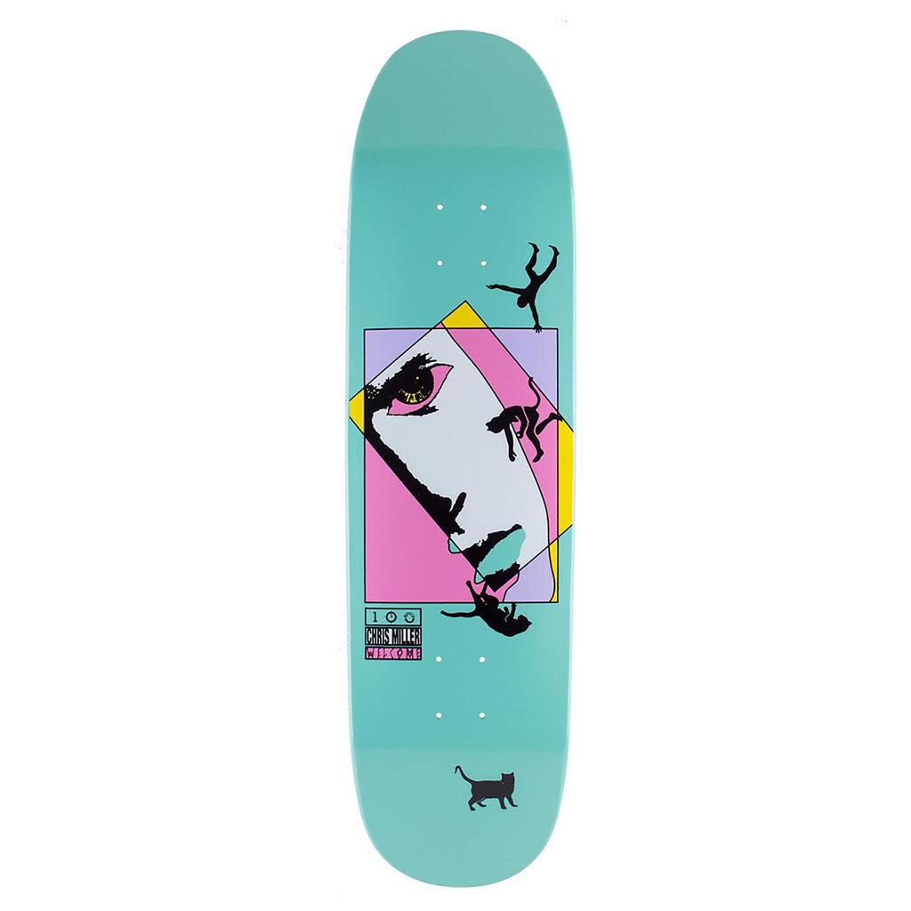 Welcome Skateboards Miller Faces On Catblood (Teal) Deck in 8.5""