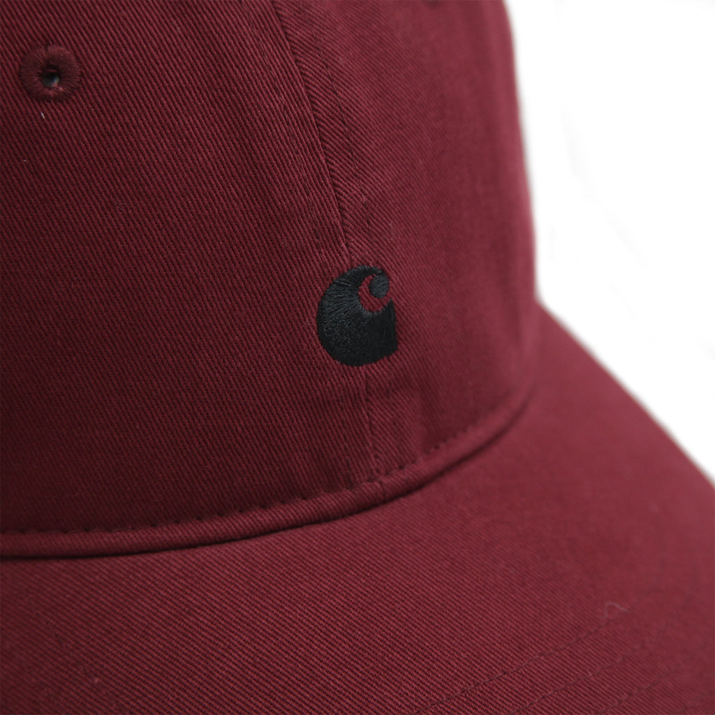 Carhartt Madison Logo Cap in Mulberry / Black - Detail