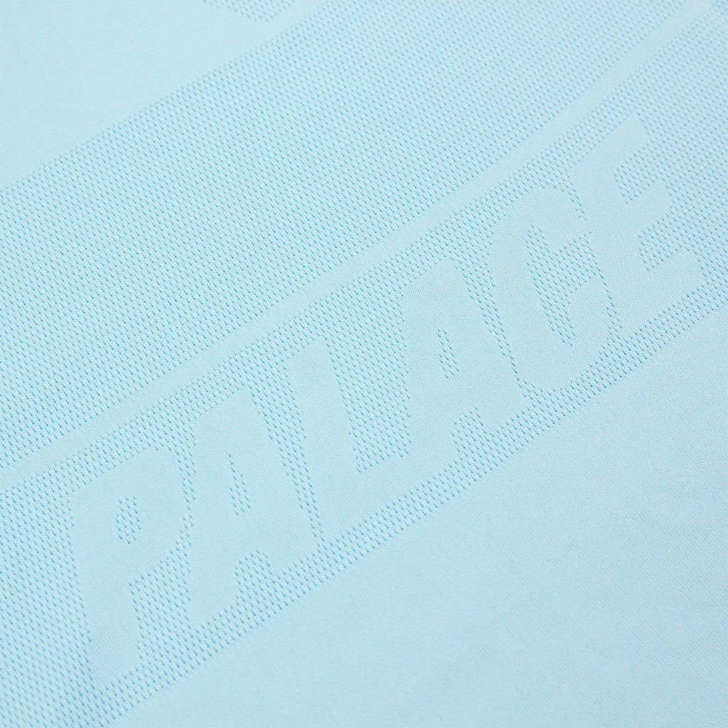 Palace x Adidas Knitted Polo Shirt in Clear Aqua - Detail 2
