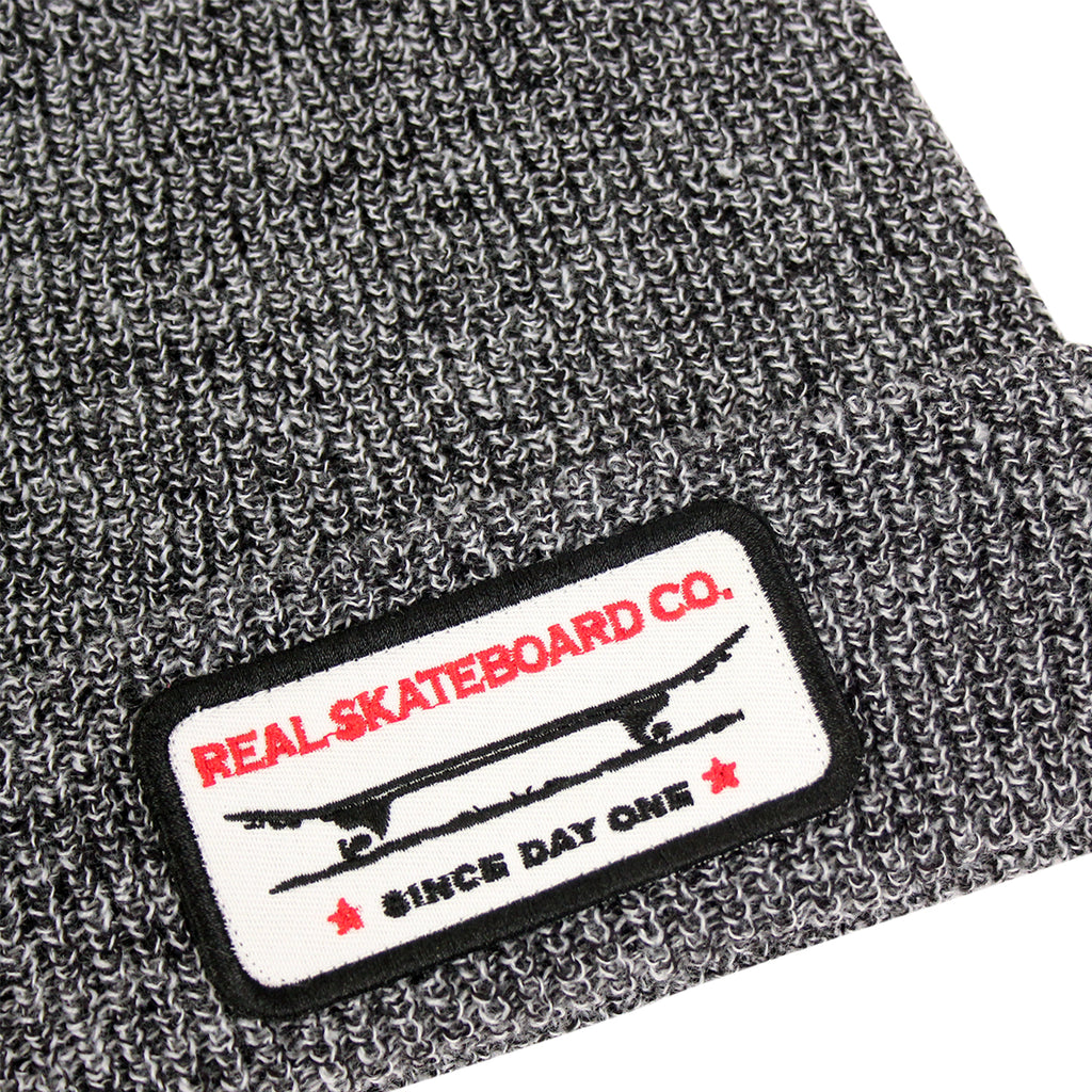 Real Skateboards Self Medicated Cuff Beanie in Grey Marled - Detail