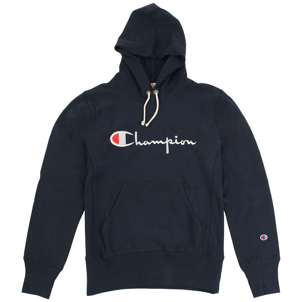 Champion Reverse Weave Hoodie in Navy