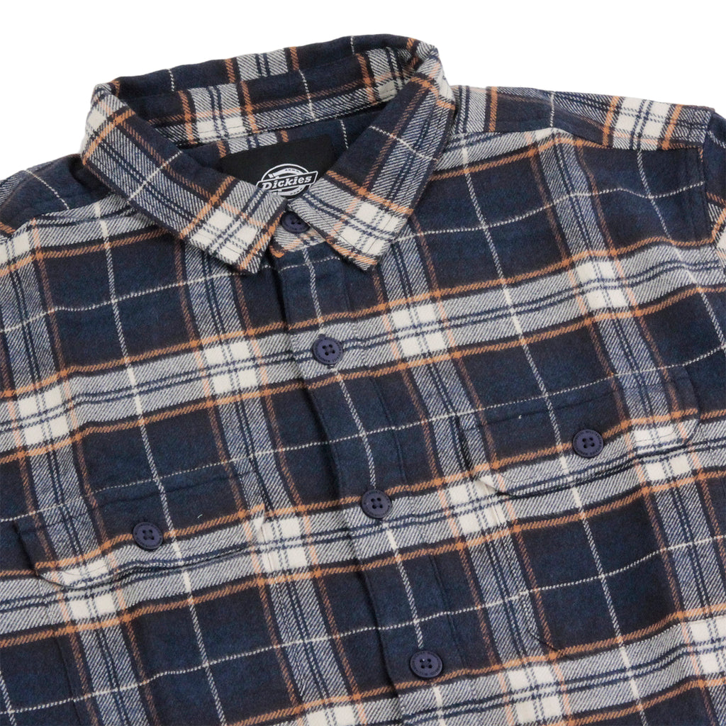 Dickies Holton Shirt in Dark Navy - Detail