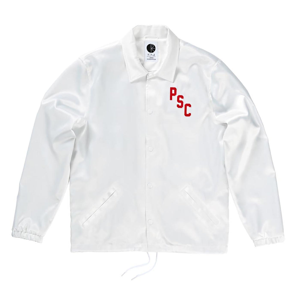 Polar Skate Co Polar Skate Club Jacket in White - Front