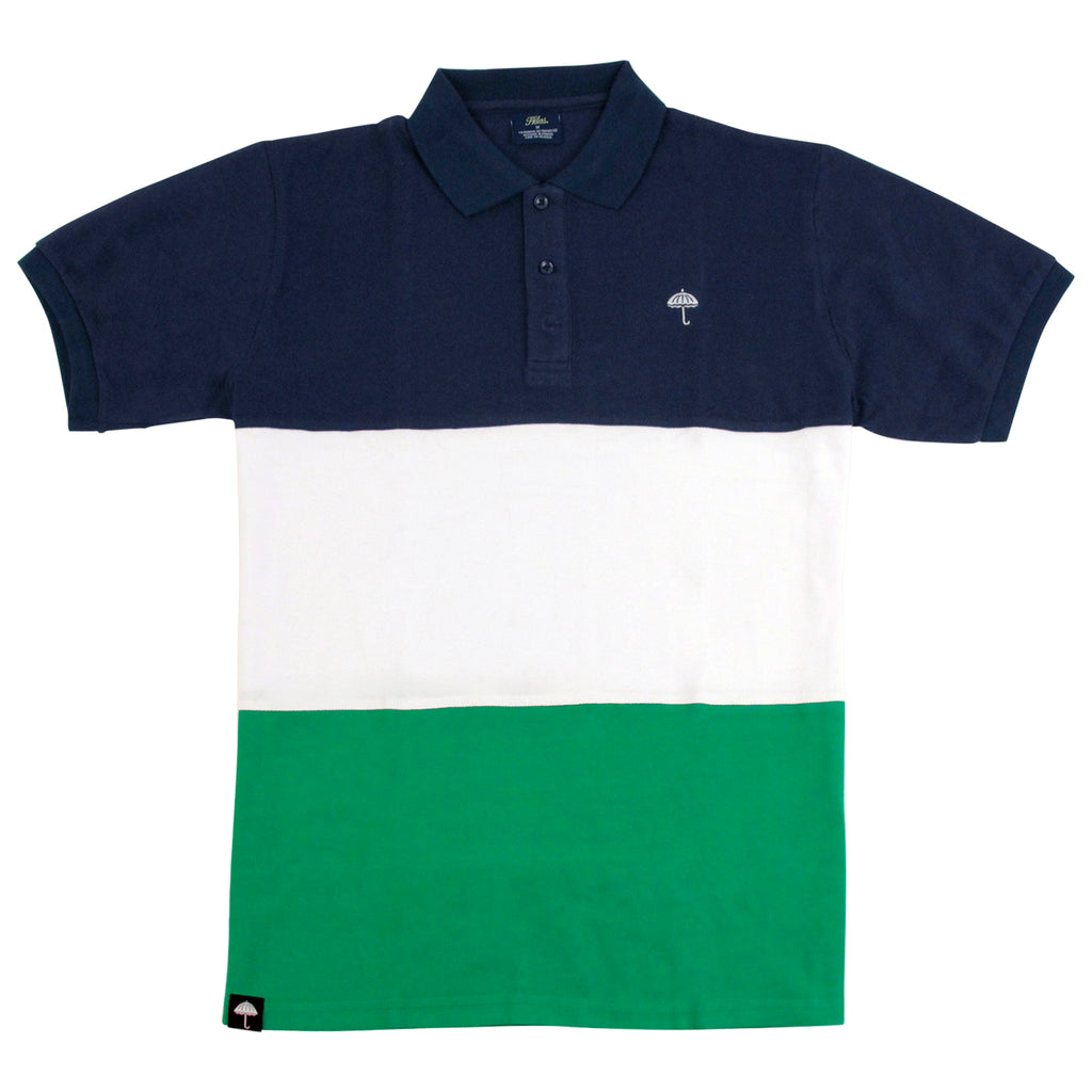 Helas Classic Polo Shirt in Navy / White / Green