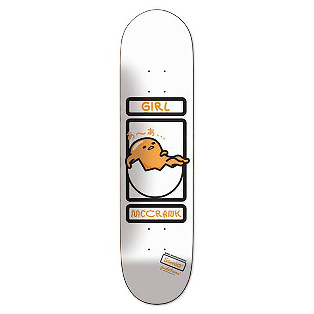 Girl Skateboards Rick McCrank Sanrio Gudetama Skateboard Deck in 8.25""