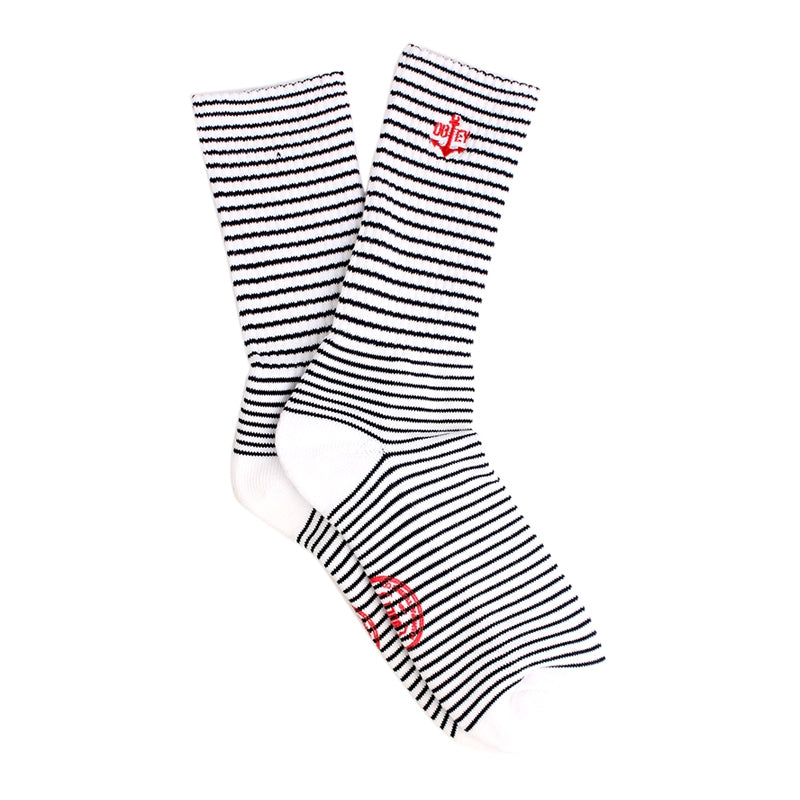 Obey Clothing Mast Socks in Navy / White