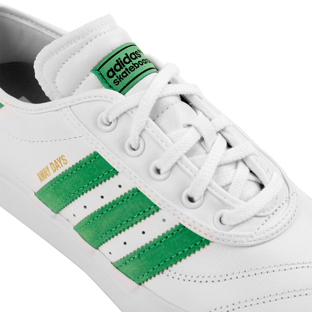 "Adidas Skateboarding Adi Ease Premiere ""Away Days"" Shoes in White / Lime / Gum - Detail"