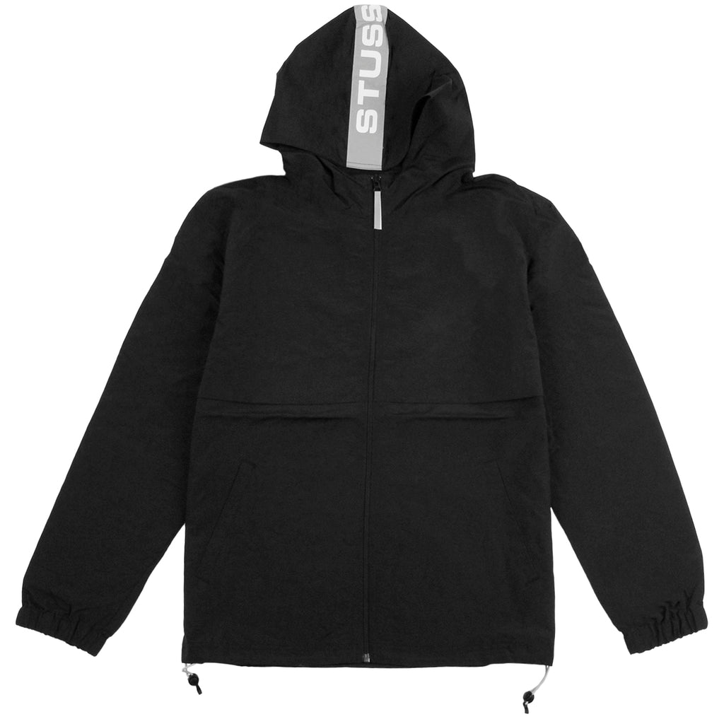 Stussy Light Nylon Full Zip Jacket in Black