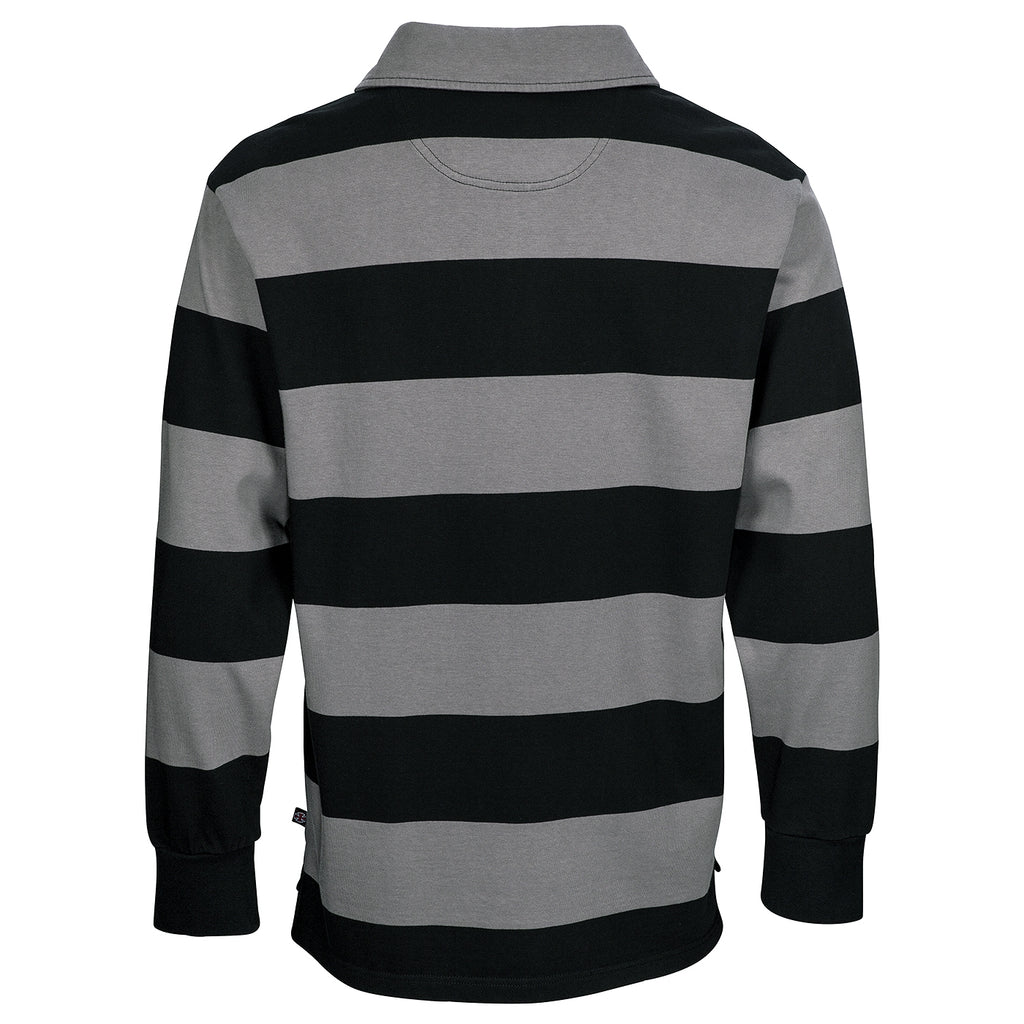 Independent Trucks Scrum L/S Rugby Top in Black / Charcoal - Back