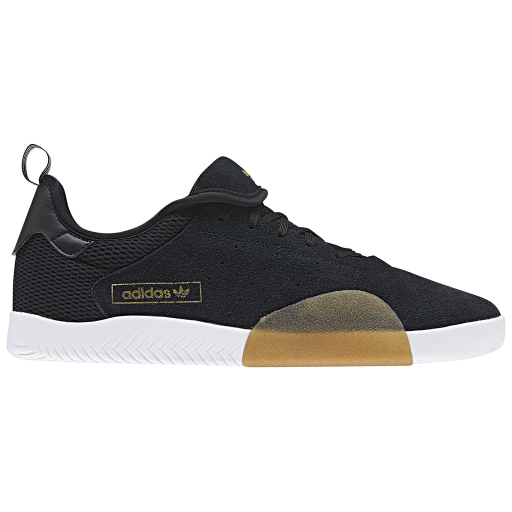 Adidas 3ST.003 Shoes in Core Black / Light Granite / Footwear White - Tongue Down