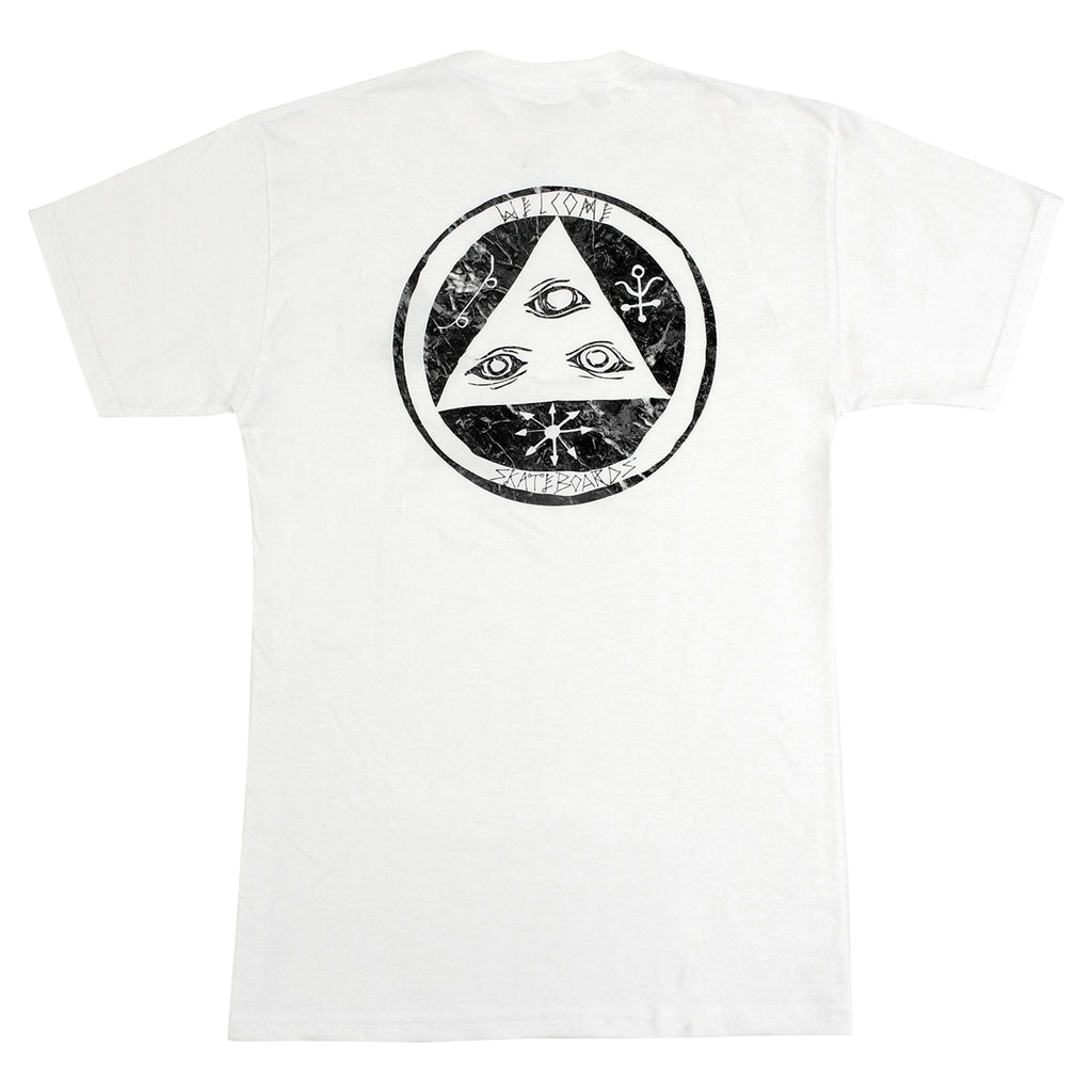 Welcome Skateboards Talisman Fill T Shirt in White / Black