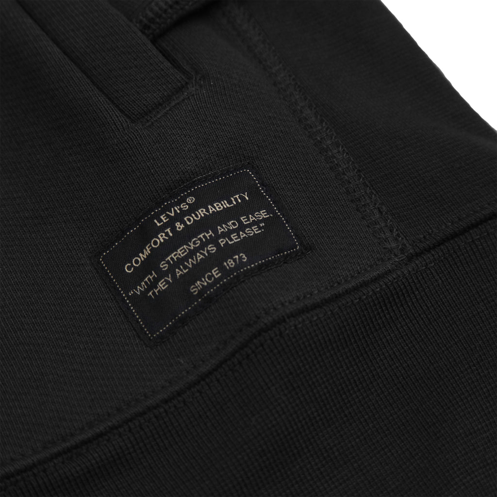 Levis Skateboarding Full Zip Hoodie in Jet Black - Label