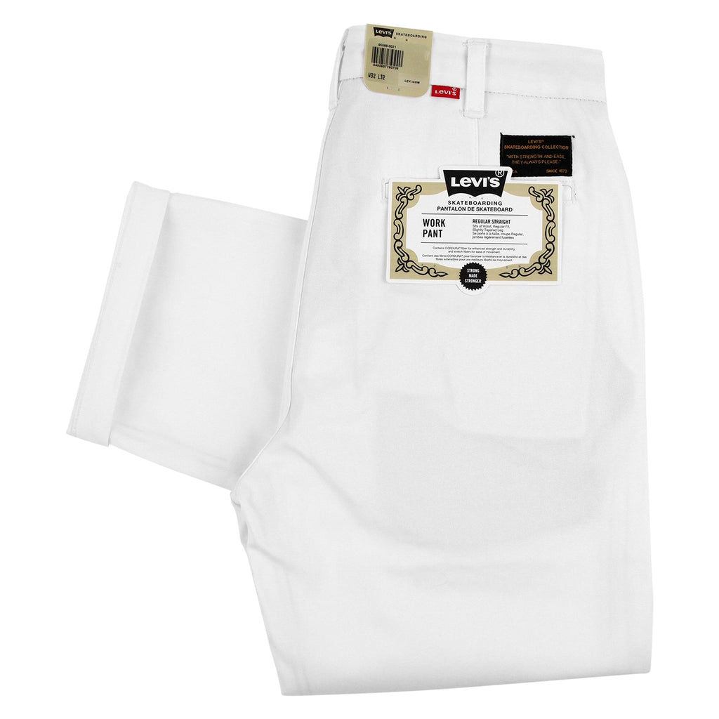 Levis Skateboarding Work Pant in Bright White