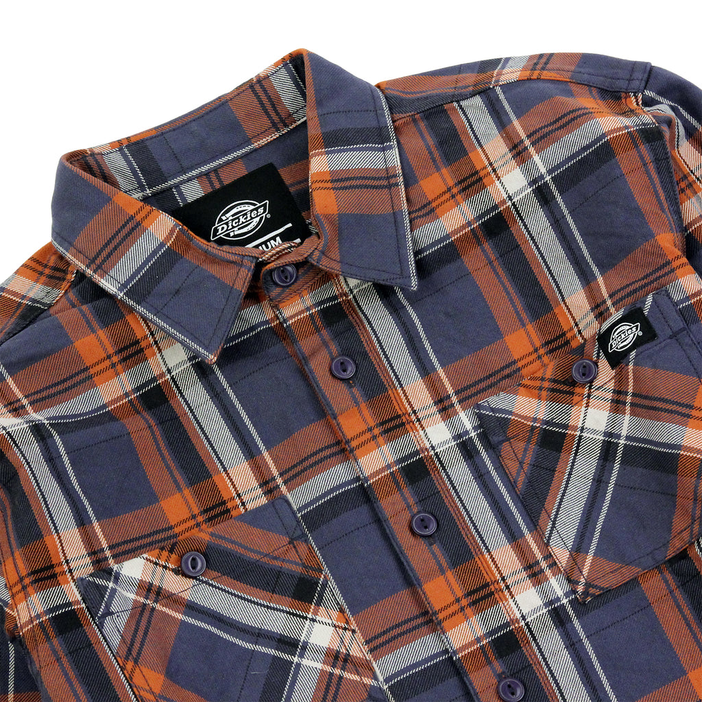Dickies Atwood Shirt in Air Force Blue - Detail