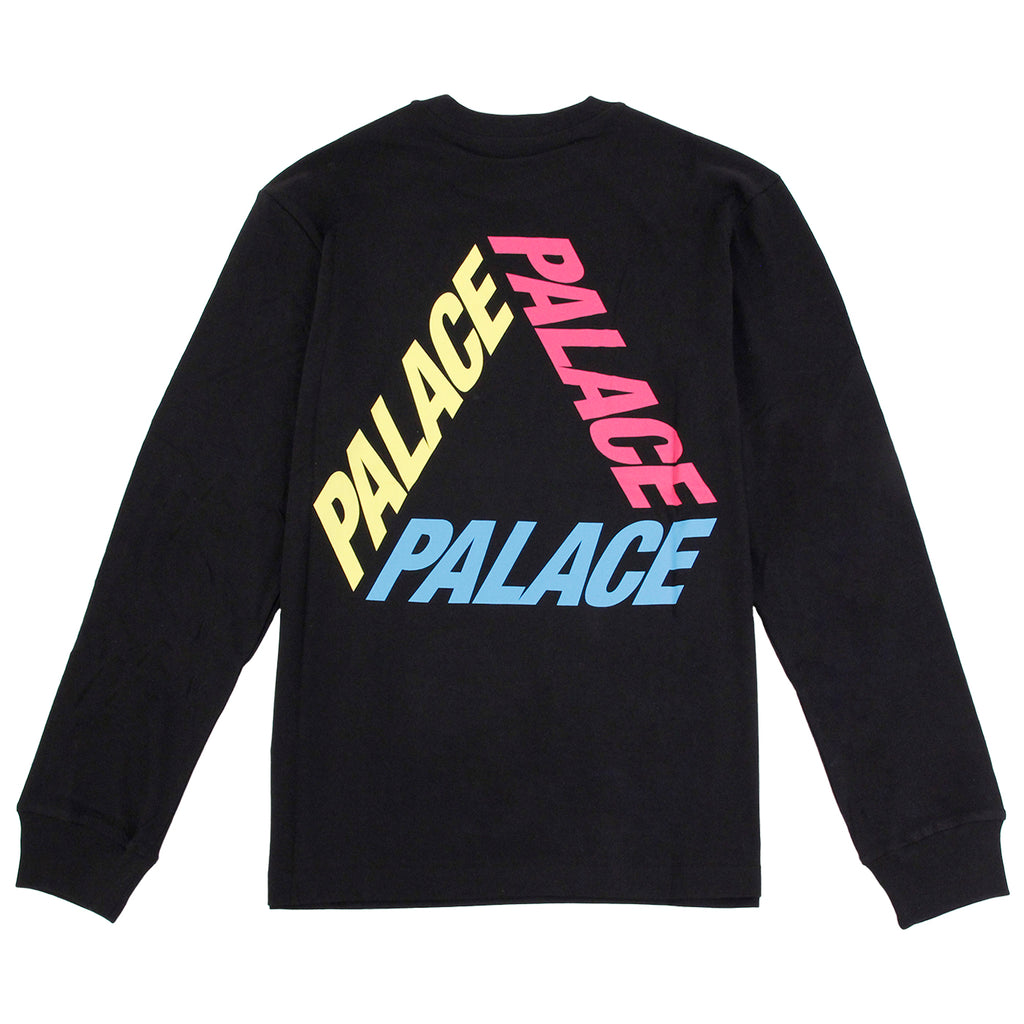 Palace P 3 L/S T Shirt in Black / Multi