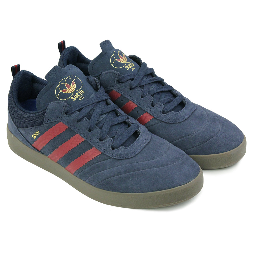 Adidas Skateboarding Suciu ADV Shoes in Collegiate Navy / Collegiate Burgundy / Gum - Pair