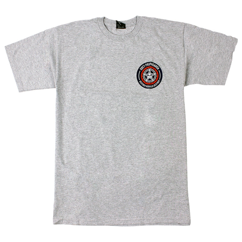 Obey Clothing Destroy Rebuild Destroy T Shirt in Heather Grey