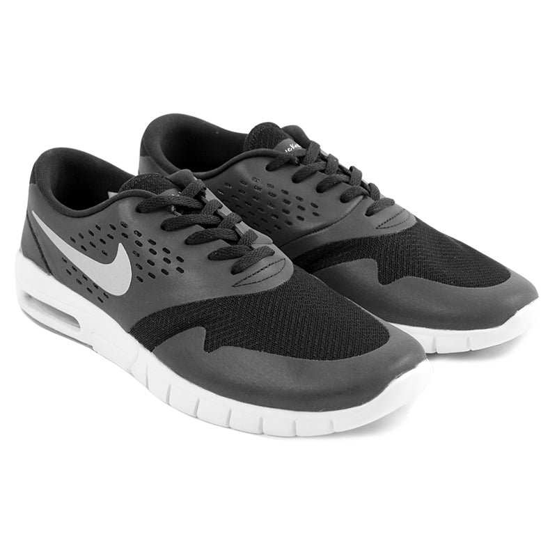 Nike SB Eric Koston 2 Max Shoes in Black / Metallic Silver / White - Paired