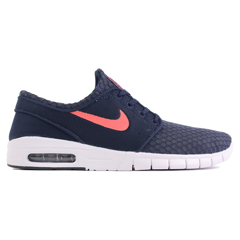 Nike SB Stefan Janoski Max L Shoes in Obsidian / Hot Lava / White