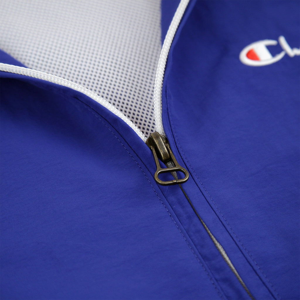 Champion Reverse Weave Half Zip Track Top in Red / Blue / White - Zip detail