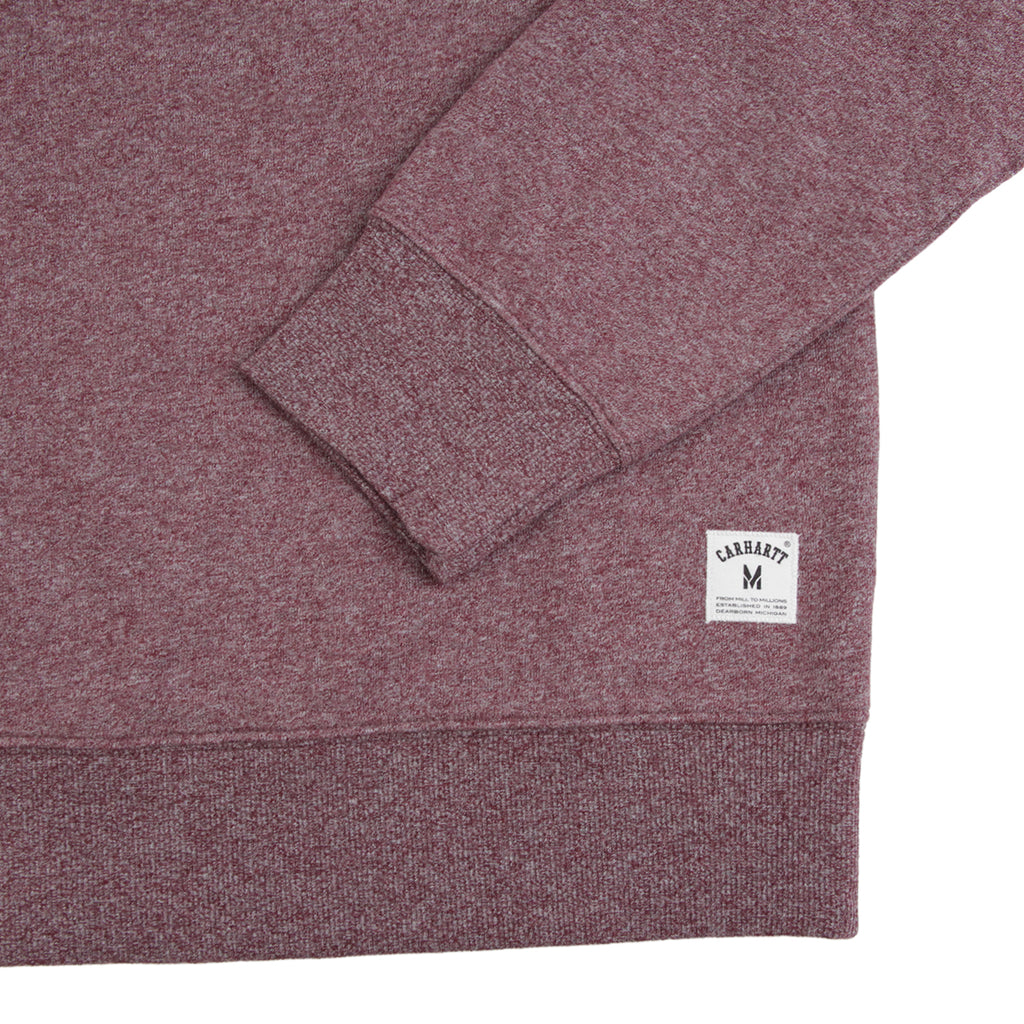 Carhartt Holbrook Sweatshirt in Chianti Noise Heather - Cuff