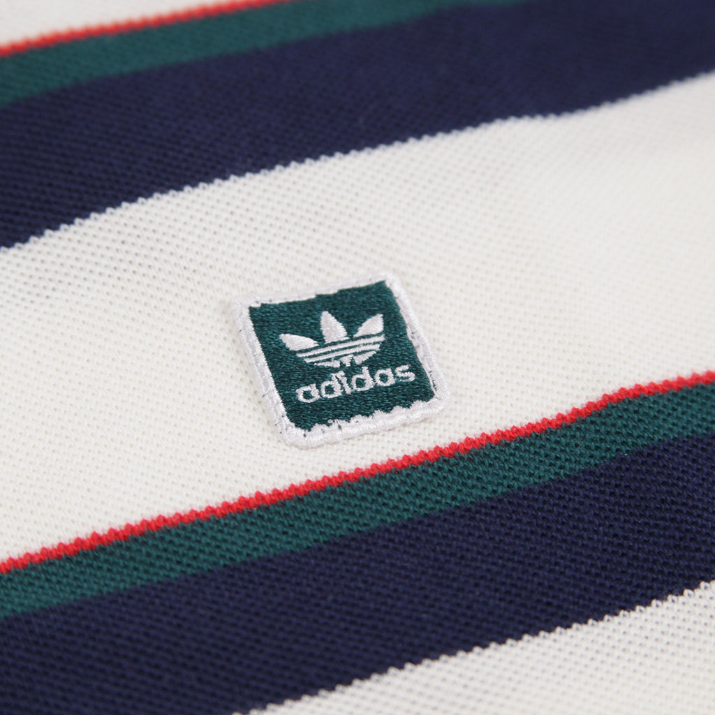 Adidas Skateboarding Clubhouse T Shirt in Off White / Night Indigo / Collegiate Green / Scarlet - Patch