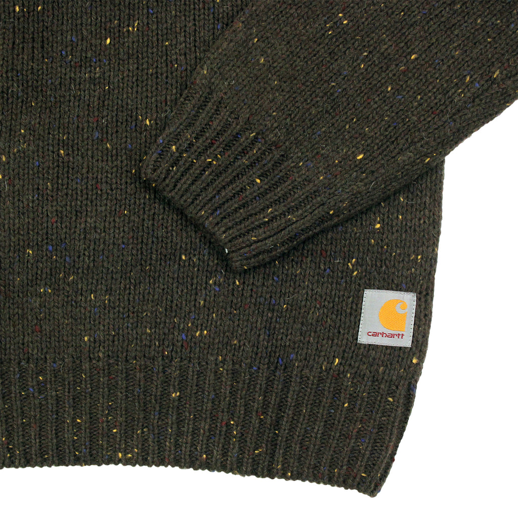 Carhartt Anglistic Sweater in Blackforest Heather - Cuff