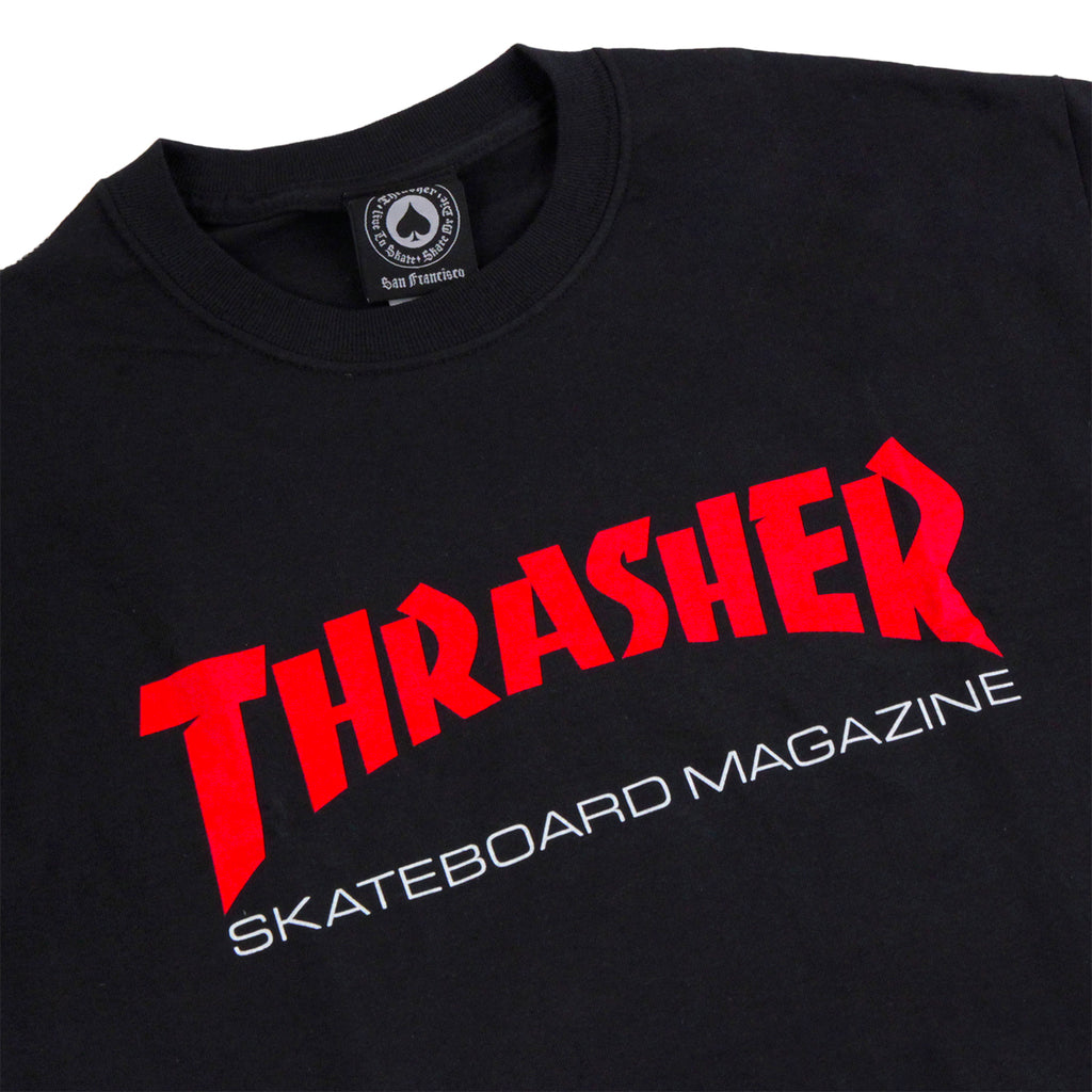 19912ada0118 Thrasher Resurrection T Shirt in Black - Detail