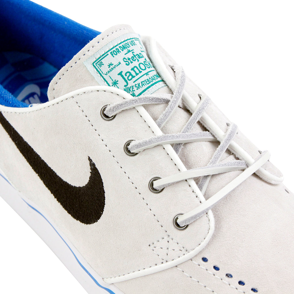 Nike SB Stefan Janoski Shoes QS - Summit White / Black - Lucid Green - Detail