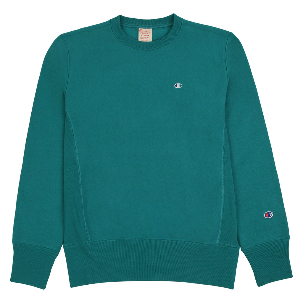 Champion Reverse Weave Classic Crew Sweatshirt in Teal
