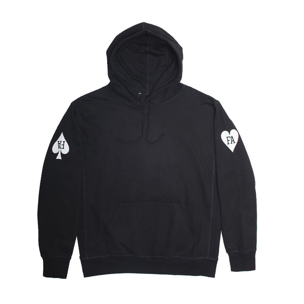 Fucking Awesome Hearts Hoodie in Black