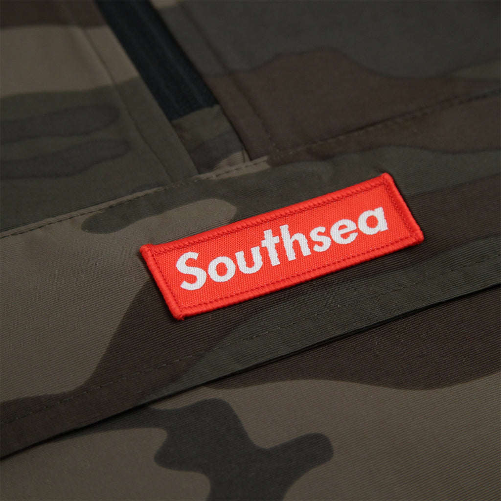 "Bored of Southsea ""Southsea"" Windbreaker Anorak Jacket in Camo - Patch detail"