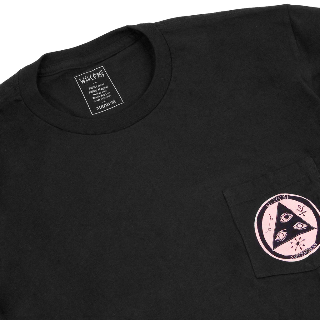 Welcome Skateboards Crinker Pocket T Shirt in Black - Detail
