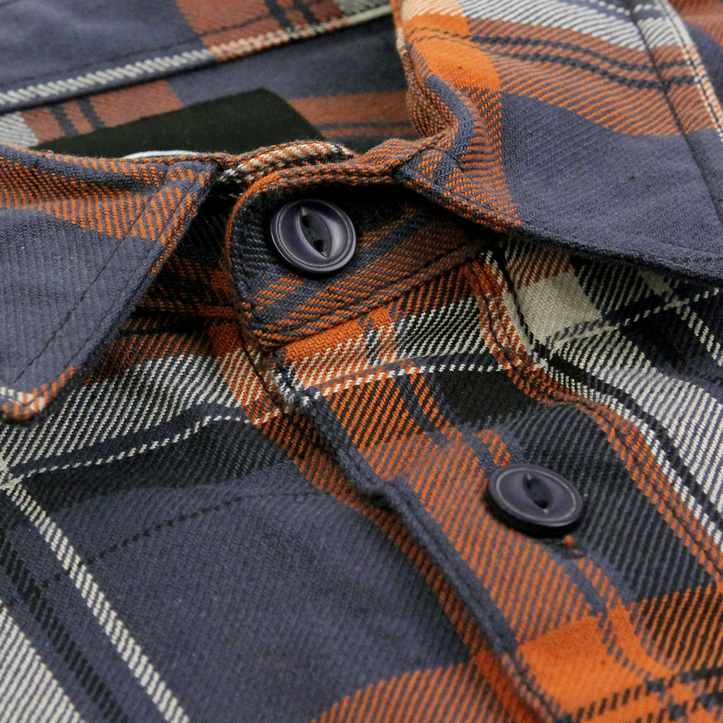 Dickies Atwood Shirt in Air Force Blue - Collar