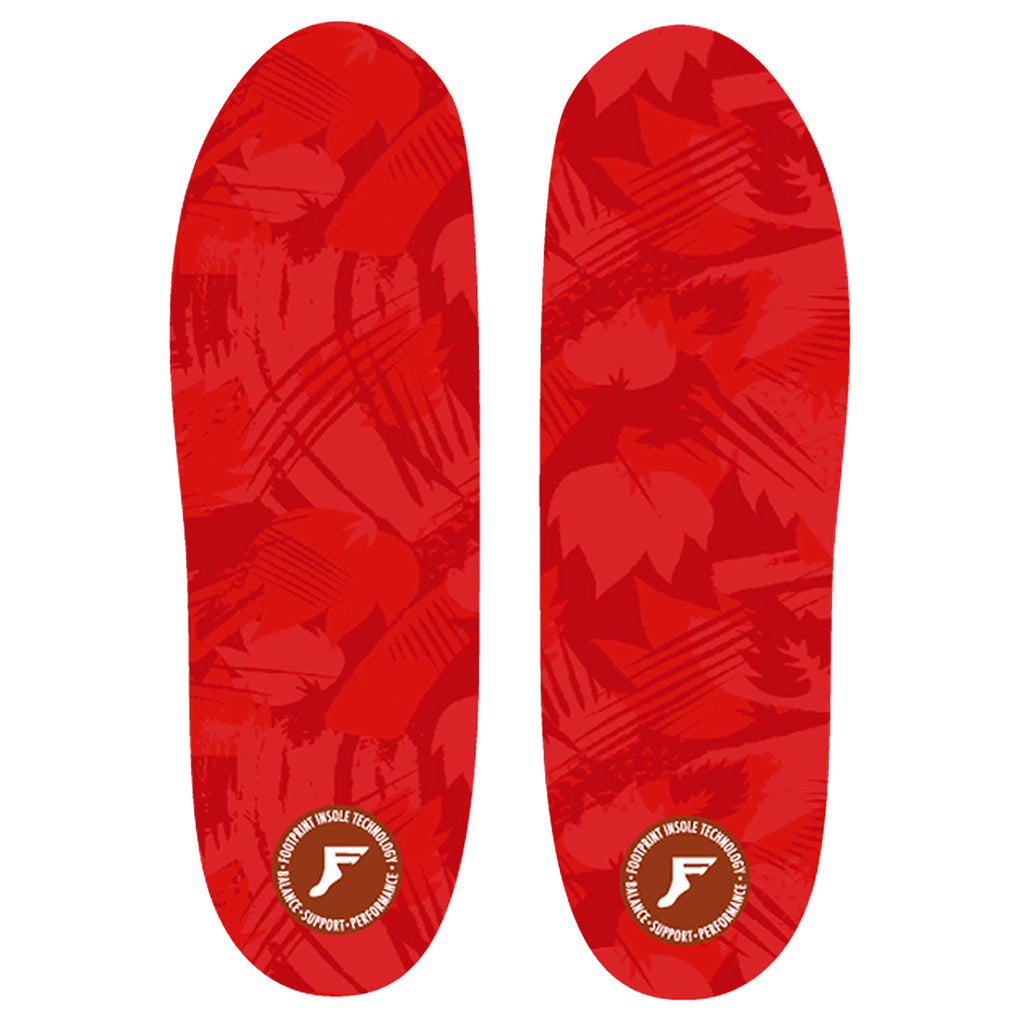 Footprint Insoles Kingfoam 5mm Flat Insoles in Red Camo