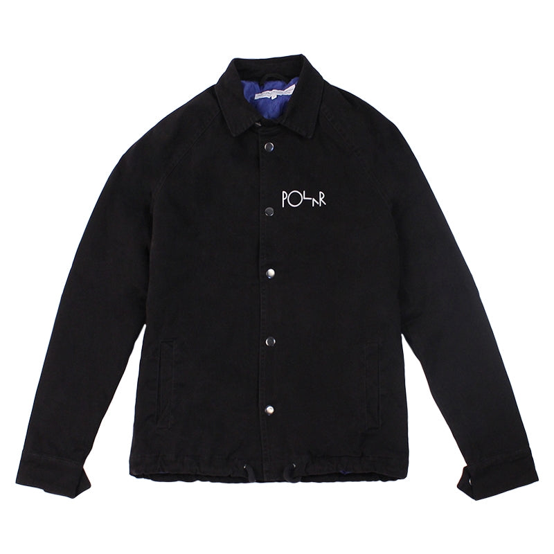 Polar Skate Co Quilted Coach Jacket in Black