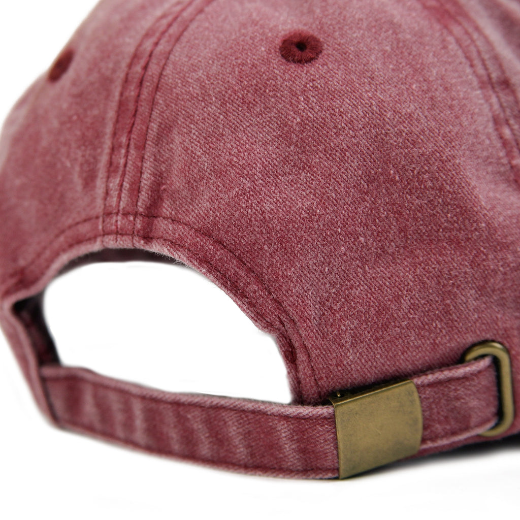 Signature Clothing S Logo Dad Cap in Washed Red / Gold - Back