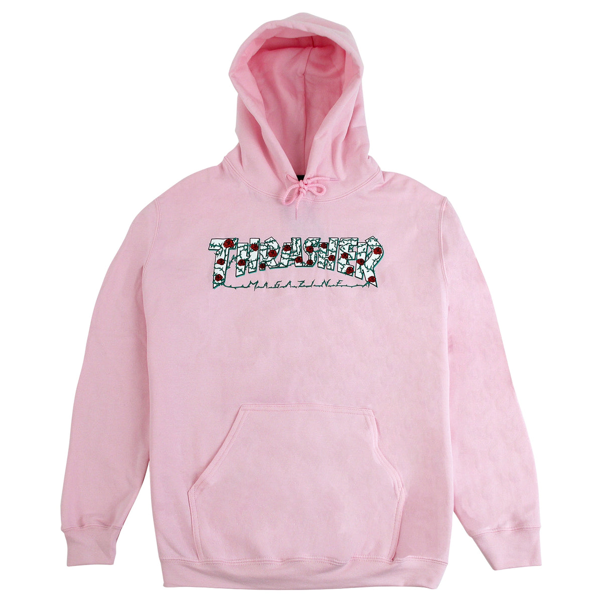 44117d4d3d33 Roses Hoodie in Light Pink by Thrasher