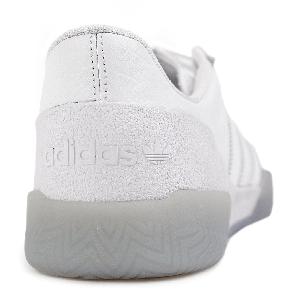 Adidas Skateboarding City Cup Shoes - White / White / Gold Metallic - Heel